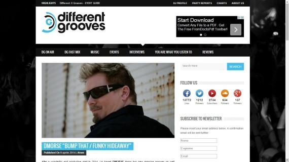 033 Different Grooves www.edmpr.com EDM PR